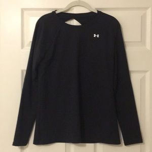 Under Armour black workout top